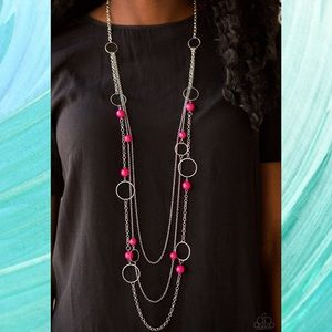 Beachside Babe Pink Necklace Set